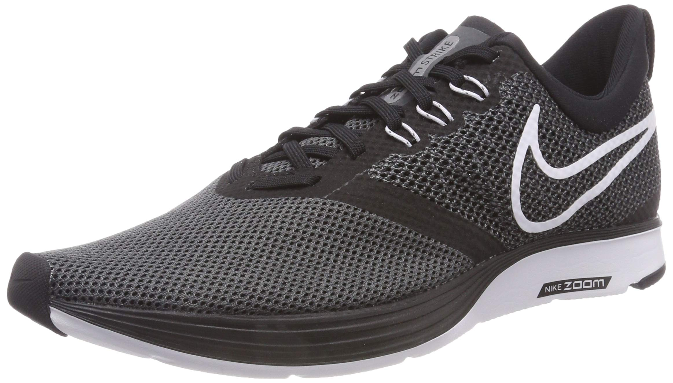 Nike Women's Zoom Strike Black/White-Dark Grey Ankle-High Running Shoe - 5M