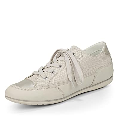 Beige D White D Geox Off Sneakers New Basses Moena White femme xP0wq6Swd