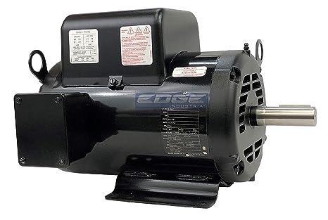 5hp Baldor Compressor Duty Industrial Electric Motor 184t 1750 Rpm 208 230v Amazon Com Industrial Scientific