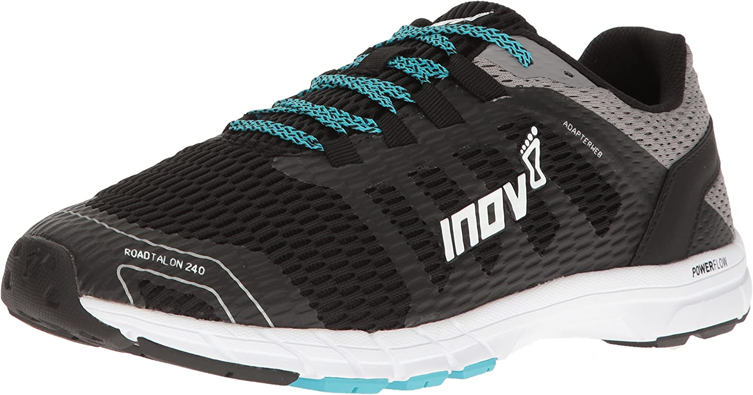 inov-8 Men s ROADTALON 240 Road Running Shoe, Black Grey Blue, 8.5 C D US