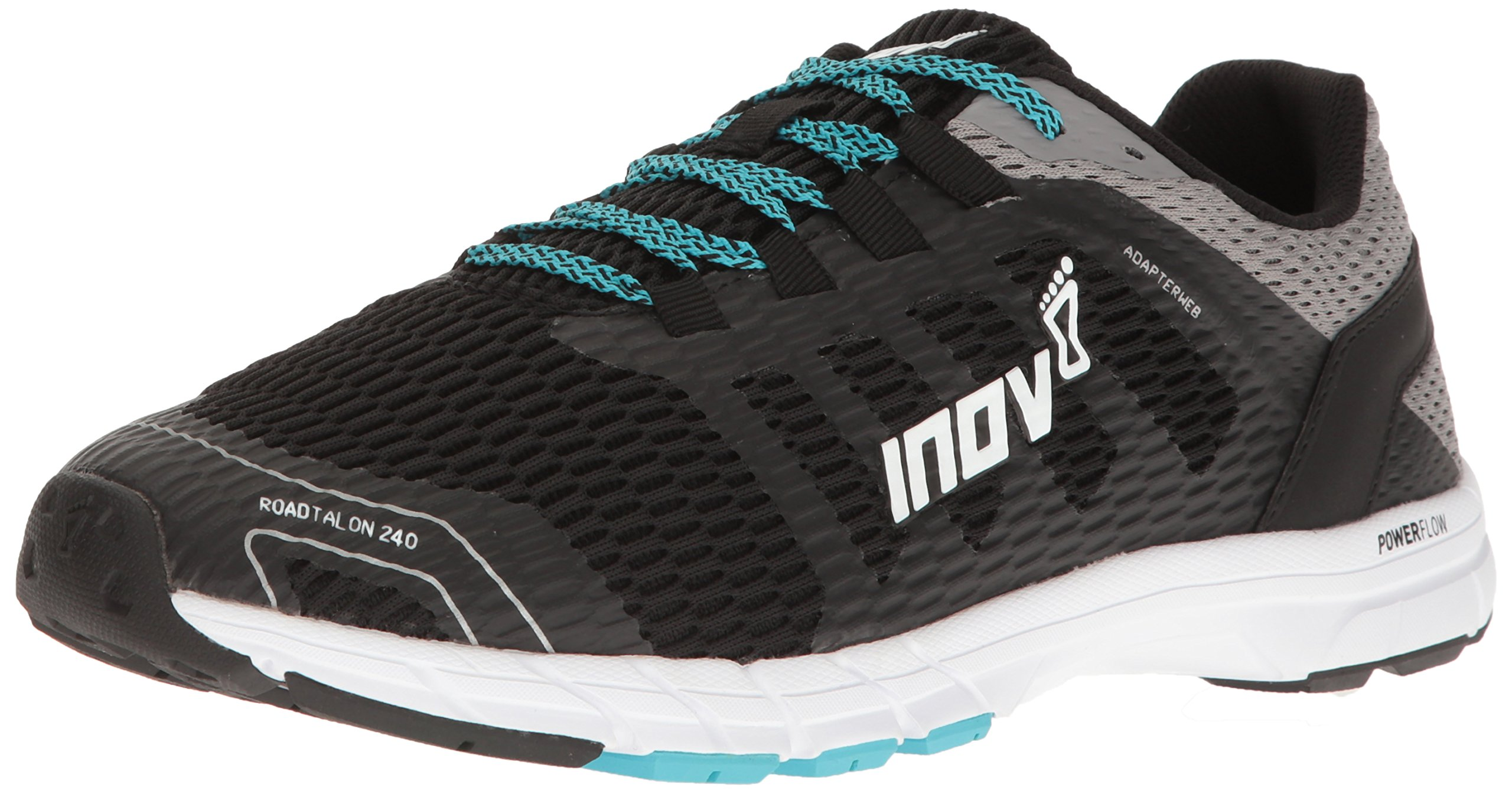 inov-8 Men's Roadtalon 240 Running-Shoes, Black/Grey/Blue, 11 C/D US