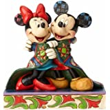 Enesco Disney Traditions by Jim Shore Mickey Minnie Mouse Christmas Stone Resin Figurine