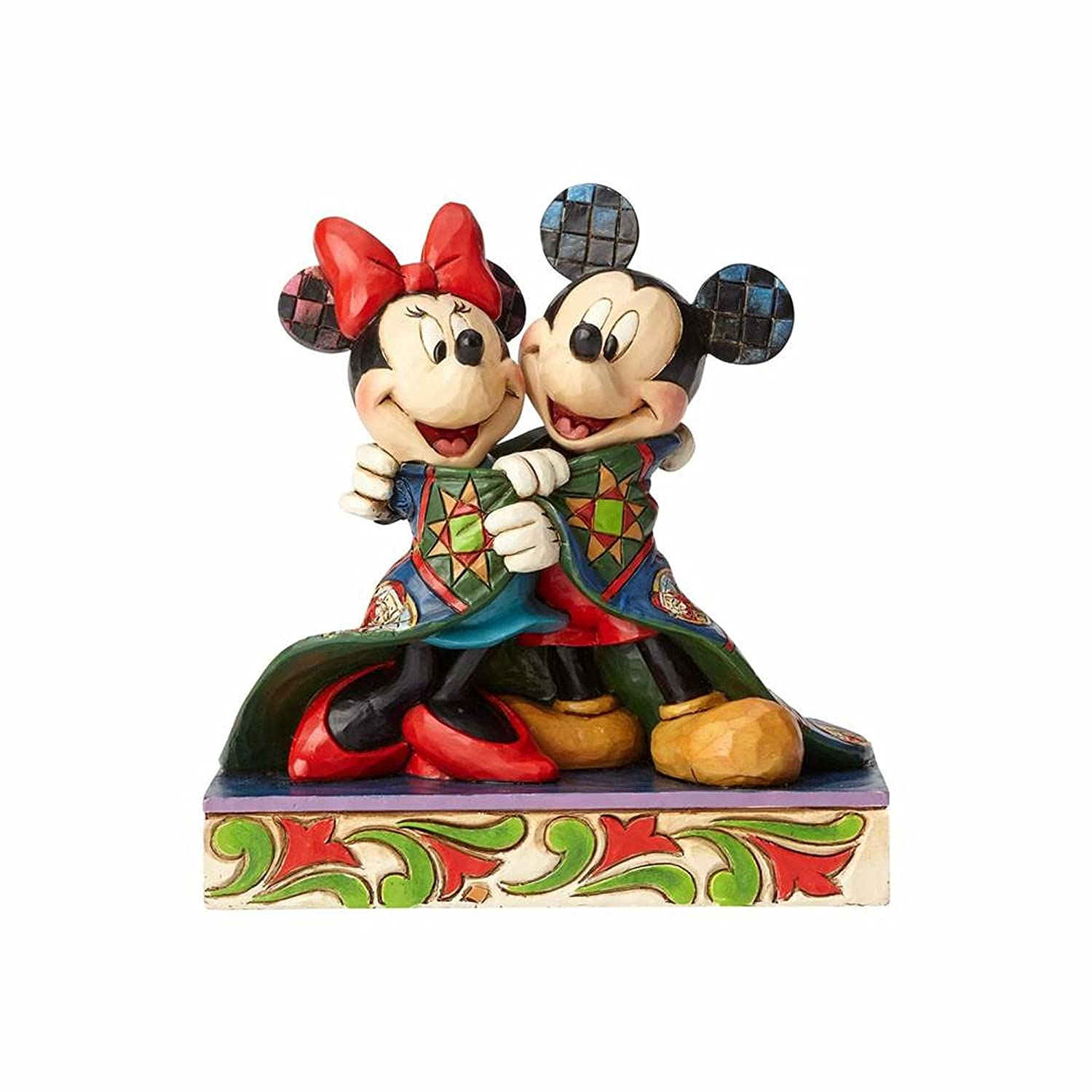 7f21460c2 Disney Traditions Warm Wishes Mickey and Minnie Mouse Figurine ...