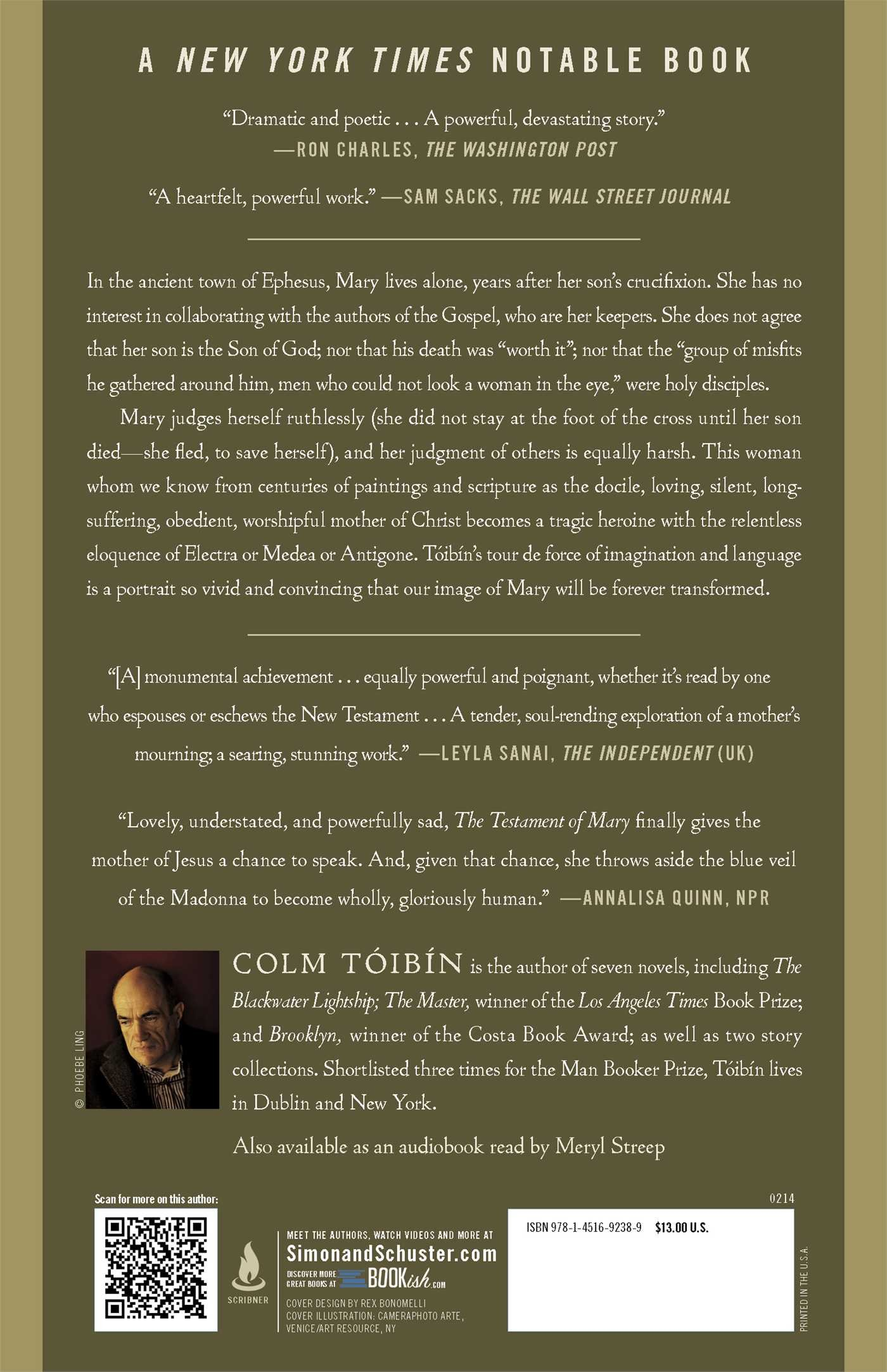 The Testament Of Mary: A Novel: Colm Toibin: 9781451692389: Amazon:  Books