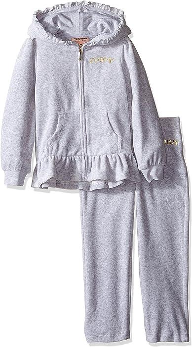 497d8b26e Amazon.com  Juicy Couture Little Girls  Toddler 2 Piece Velour ...