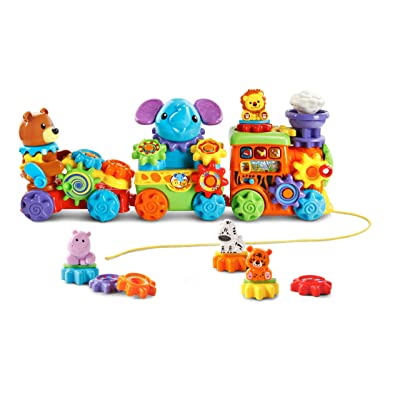 VTech GearZooz Roll and Roar Animal Train: Toys & Games