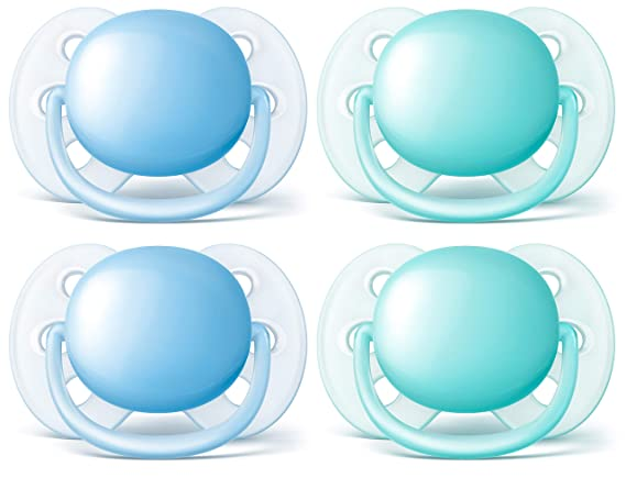 2 Ct Philips Avent Ultra Soft Pacifier 6-18m Colors Vary 6 Pack SCF212//23