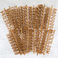 "Bronze Plastic Letter Set for Changeable Felt Letter Boards. 3/4"" Letters, Set of 300 Characters by Felt Like Sharing"