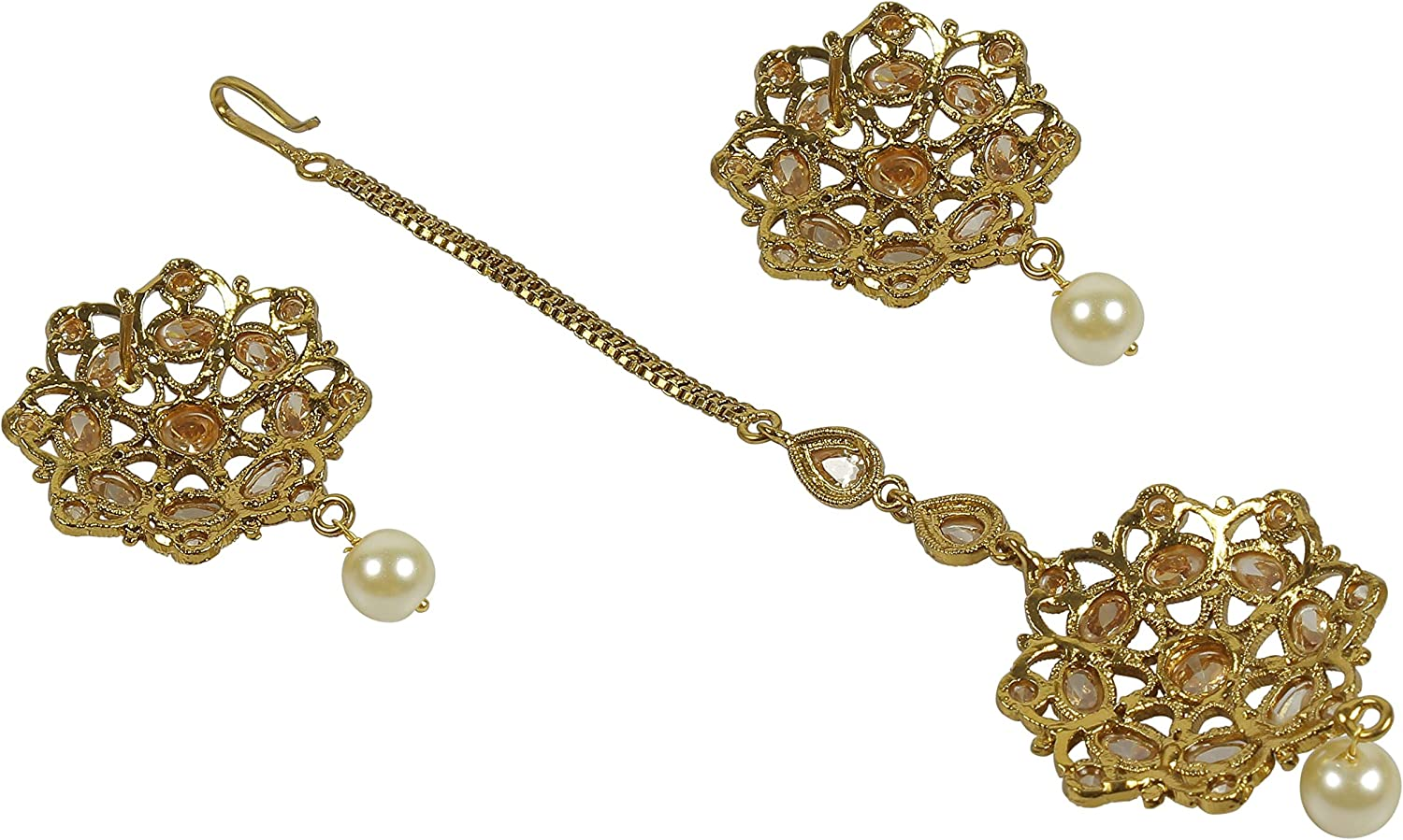 MUCH-MORE Indian Great Style Party wear Maang Tikka Forehead Traditional Jewelry