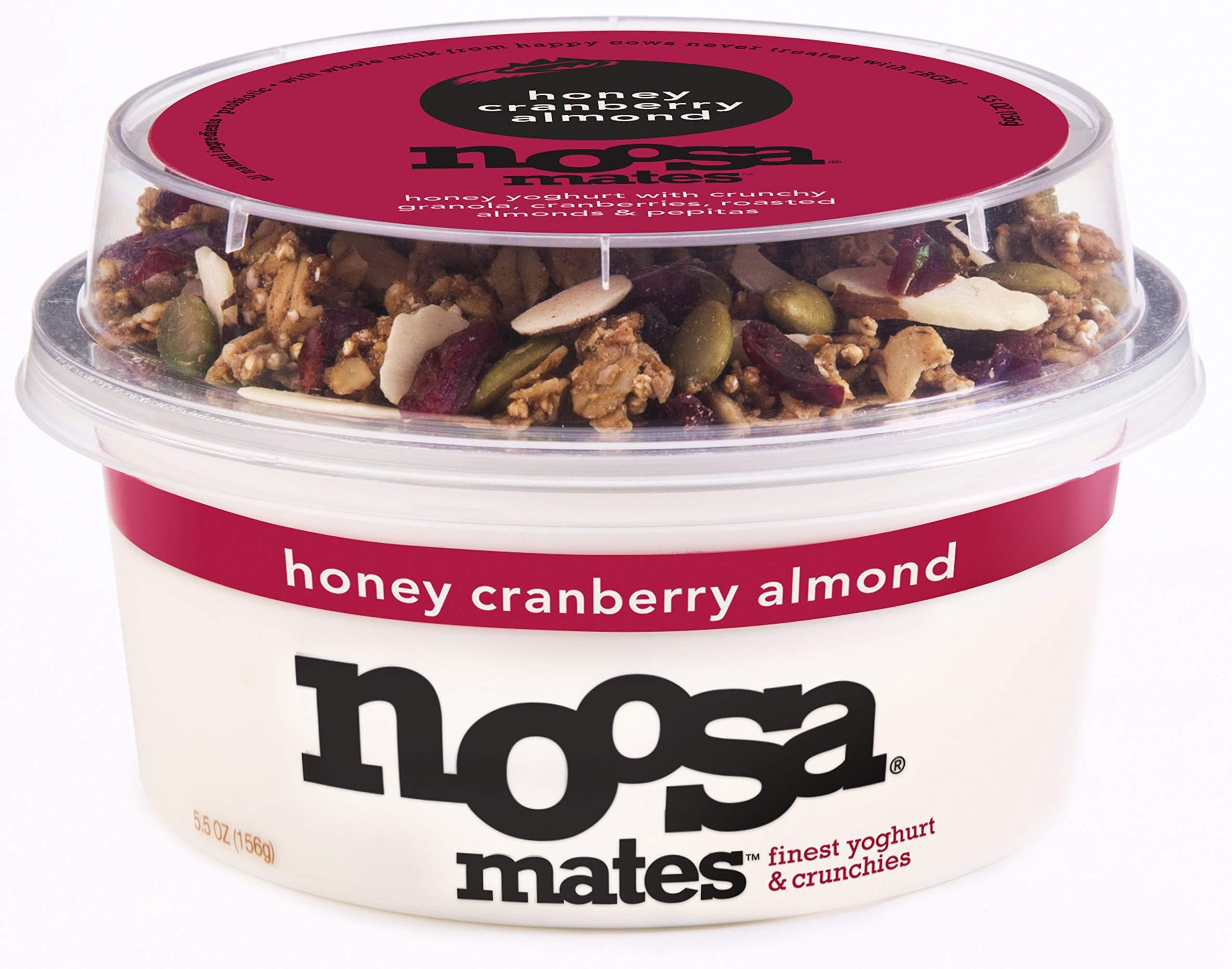 NOOSA Honey Cranberry Almond Yogurt Mates, 5.5 OZ
