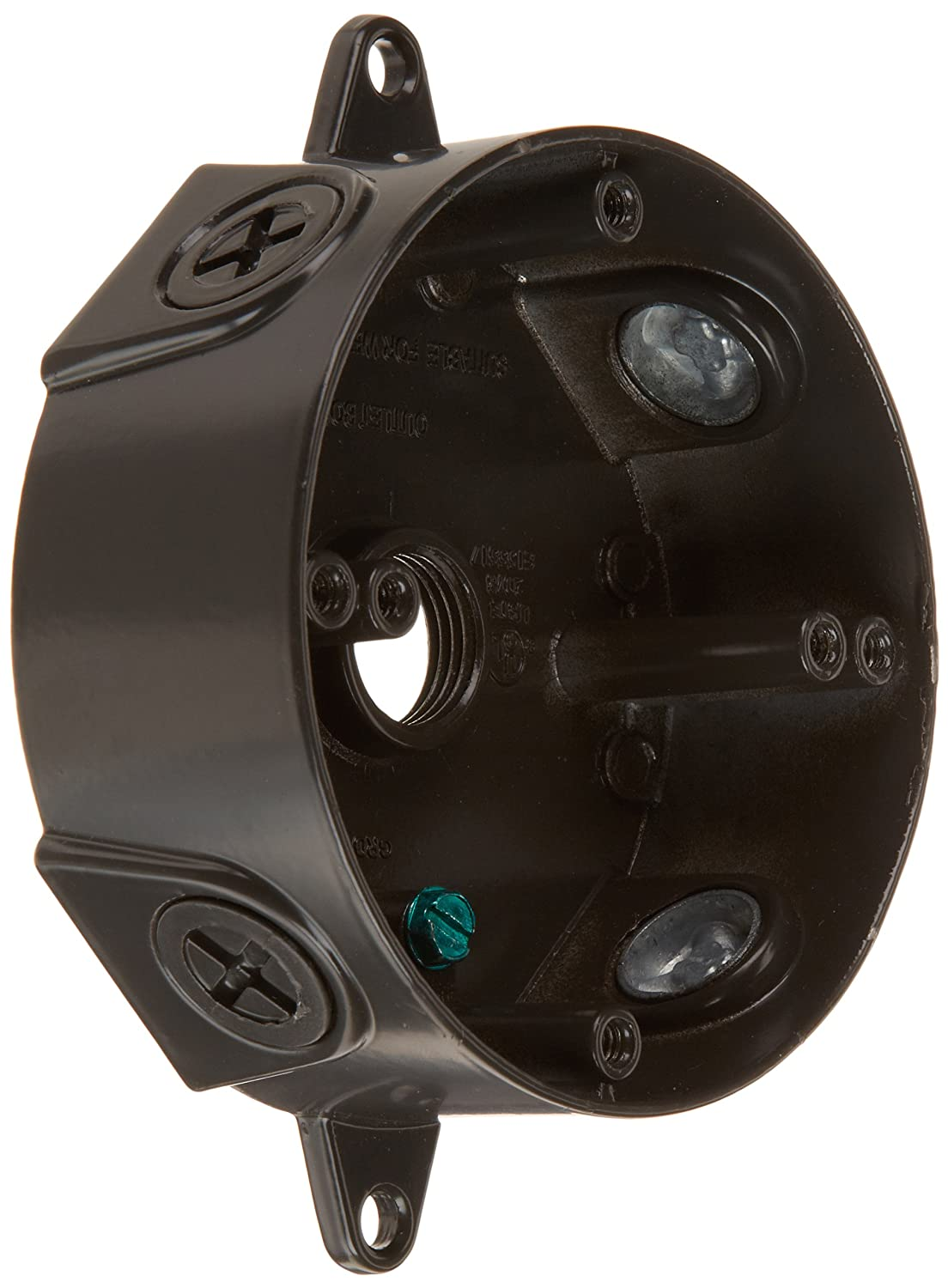 RAB Lighting VXCA Weatherproof Round Box with No Cover Aluminum 1 2 Hole Size Bronze Color