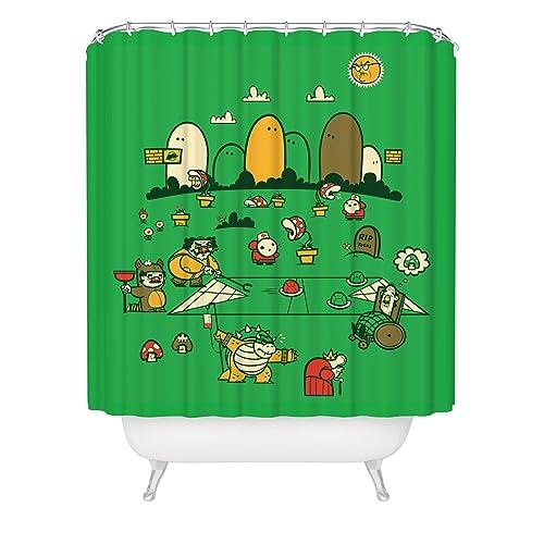 Super Mario Bros Shower Curtain / Nintendo Shower Curtain / Video Game  Shower Curtain / Fox