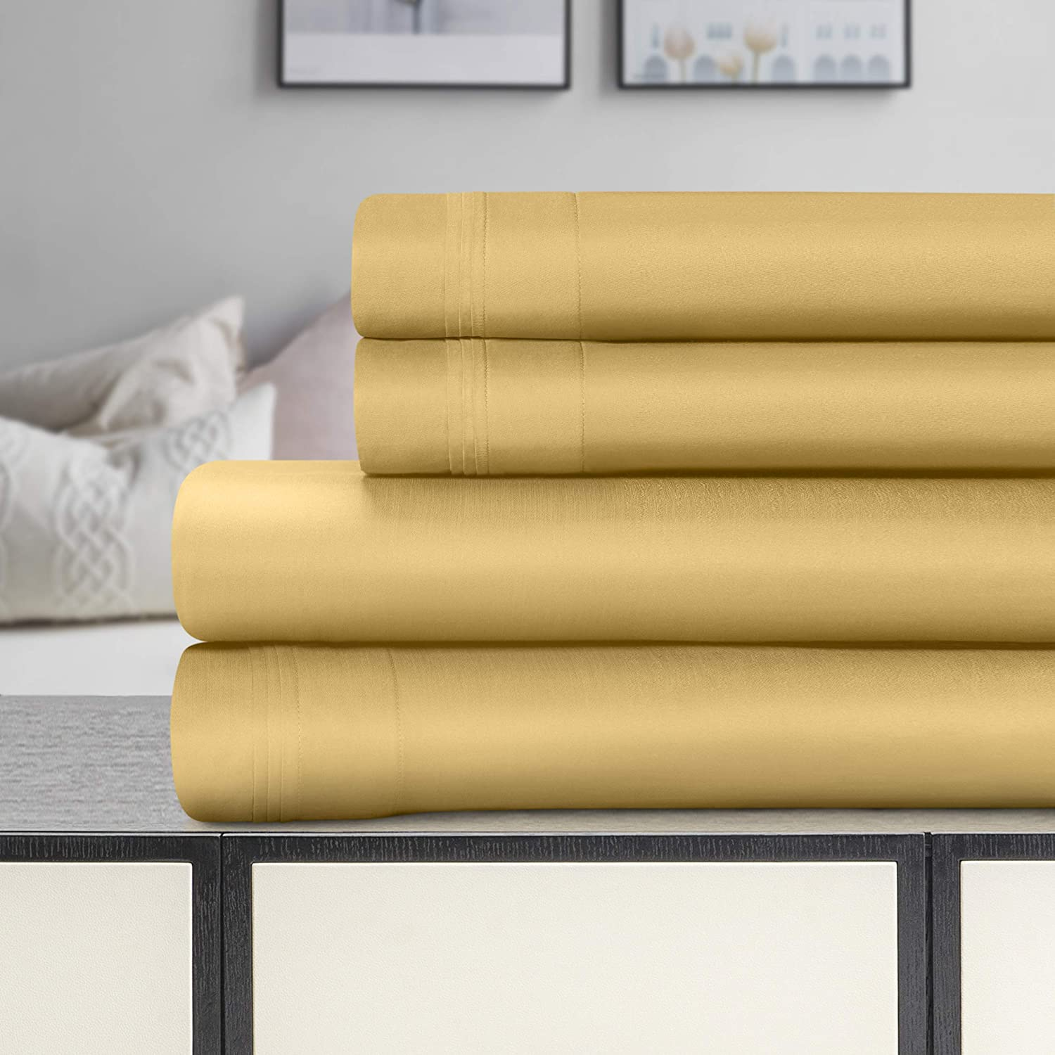 SUPERIOR Cotton Bed Sheet Set Count 1500 Challenge Large discharge sale the lowest price Solid Egyptian Thread