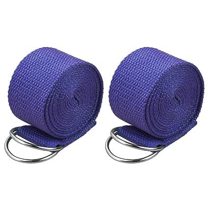 Amazon.com: EEEKit 2-Pack 6 Feet Sport Yoga Stretch Strap ...