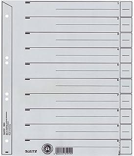 LEITZ Trennblätter A4 Überbreite grau Kraftkarton 230g//qm