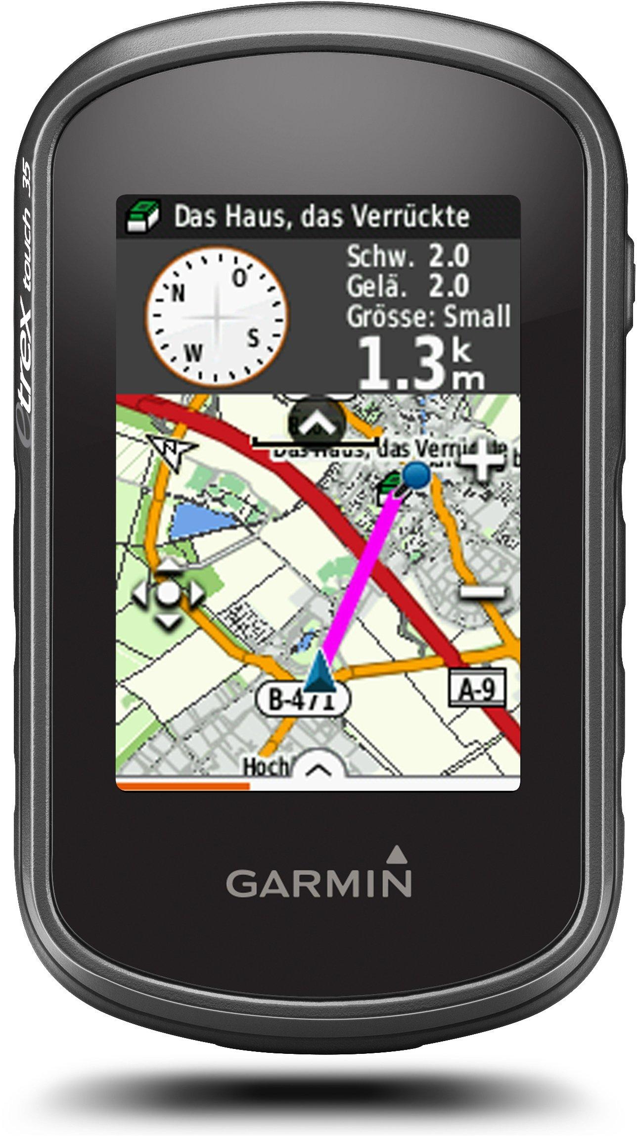 """Garmin eTrex Touch 35 GPS Portatile, Schermo 2.6"""", Altimetro Barometrico e Bussola Elettronica, Mappa TopoActive Europa Occidentale, Nero/Verde product image"""