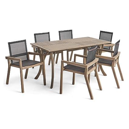 Great Deal Furniture Kaur Patio Dining Set 6