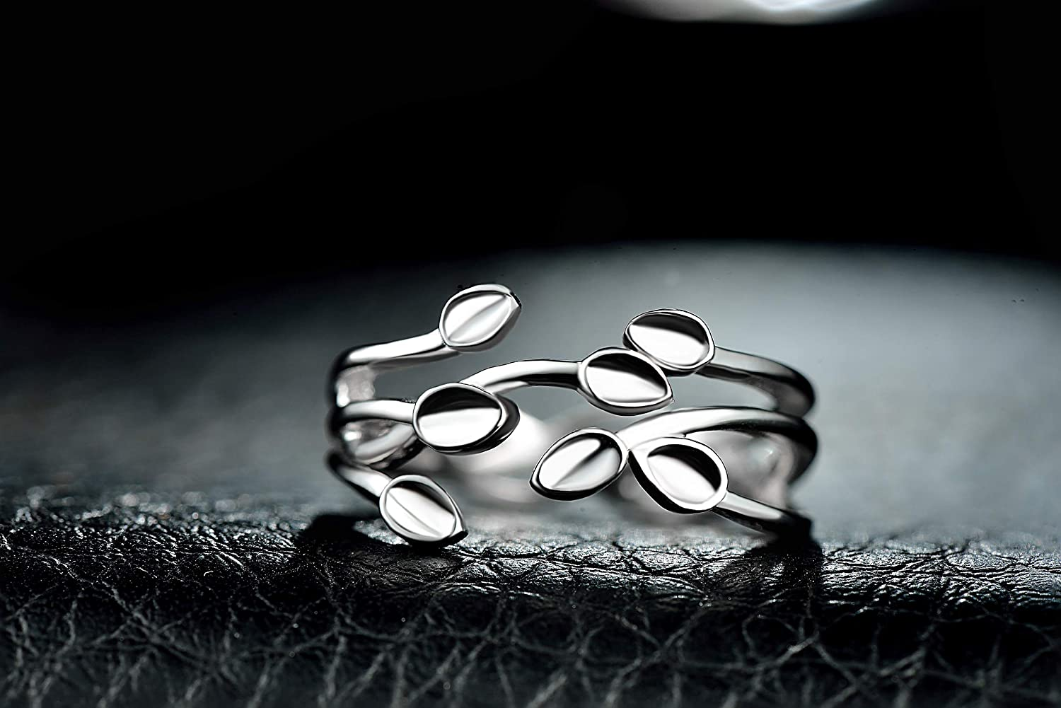 Weight About 2.4 g. FHX Individual Flower S925 Sterling Silver Ring Female Opening Adjustable Ring Fashion Jewelry Craft: Polished Material: S925 Silver