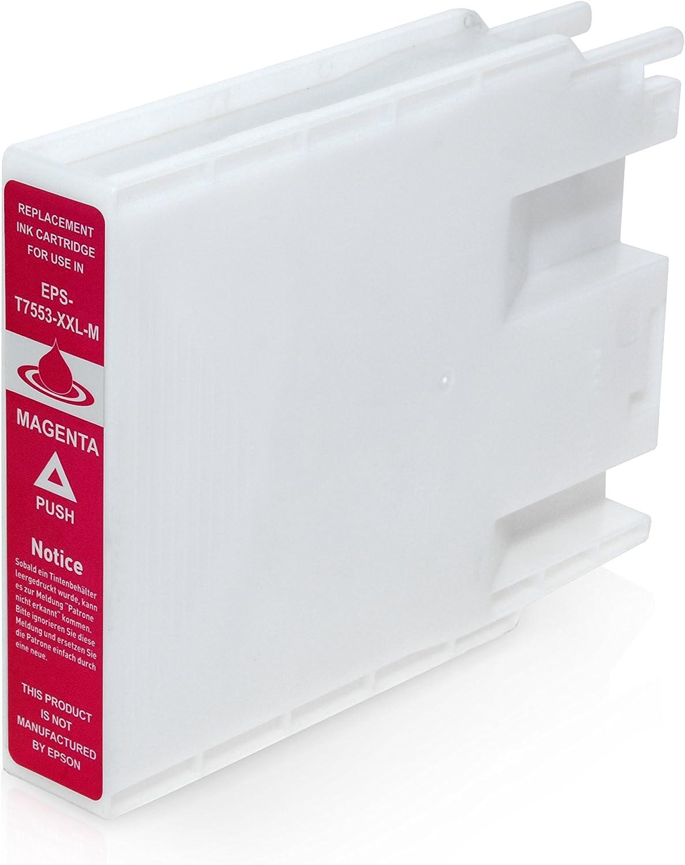 Kineco T7553 Kompatible Tintenpatrone Kompatibel Für Epson Workforce Pro Wf 6530 Mfp Wf 8010 Wf 8090 Wf 8510 Wf 8590 Magenta 70ml Bürobedarf Schreibwaren