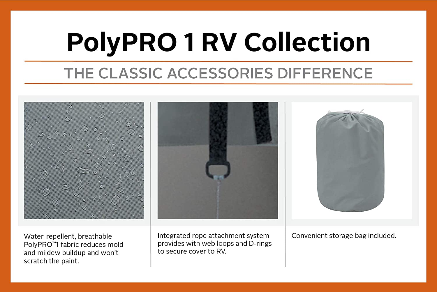 Classic Accessories OverDrive PolyPro 1 Cover for 20 to 22 Travel Trailers