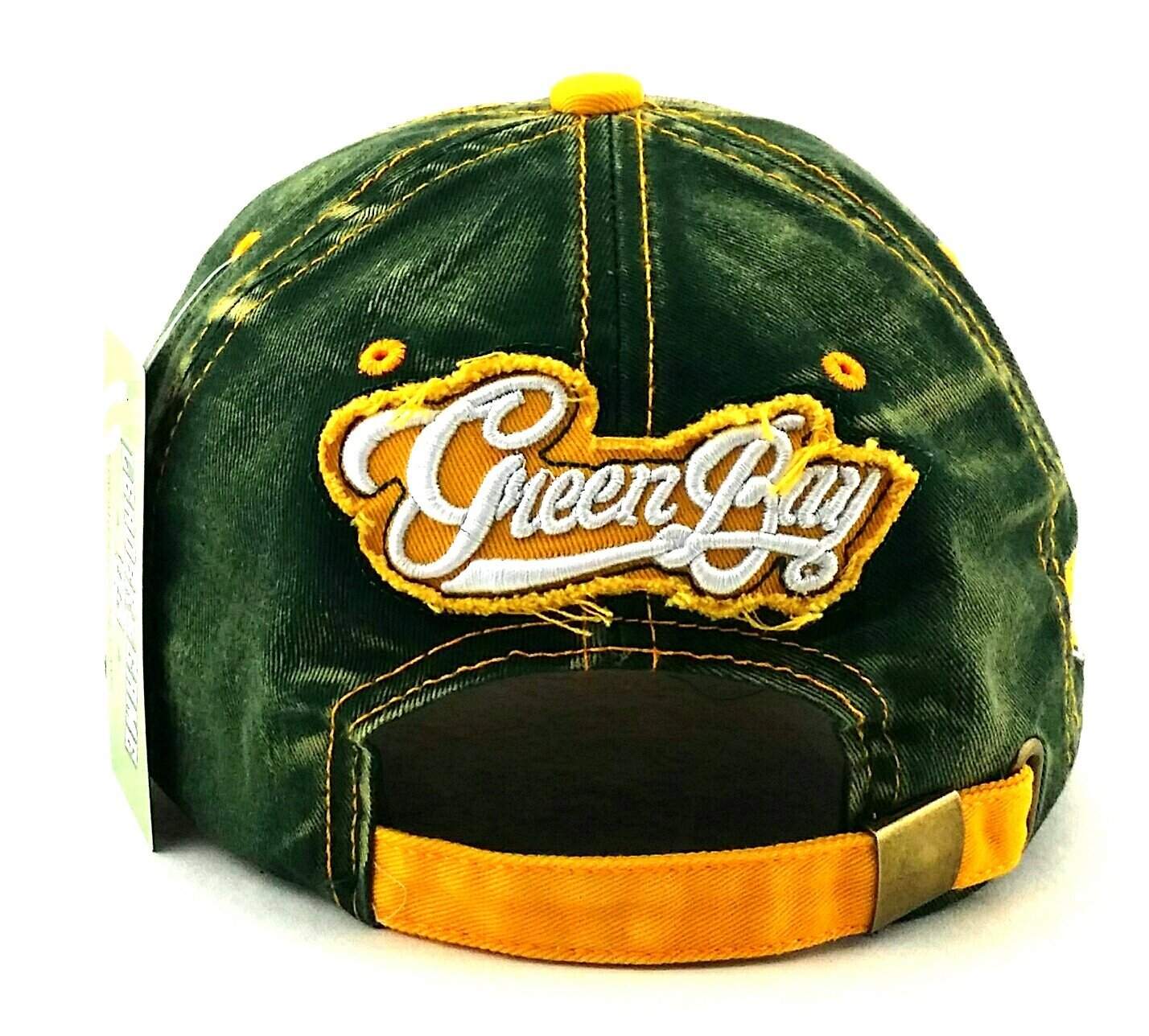 61c507719 Amazon.com   Green Bay New Leader Women Ladies Vintage Cheese Head Packers  Colors Green Gold Era Hat Cap   Sports   Outdoors