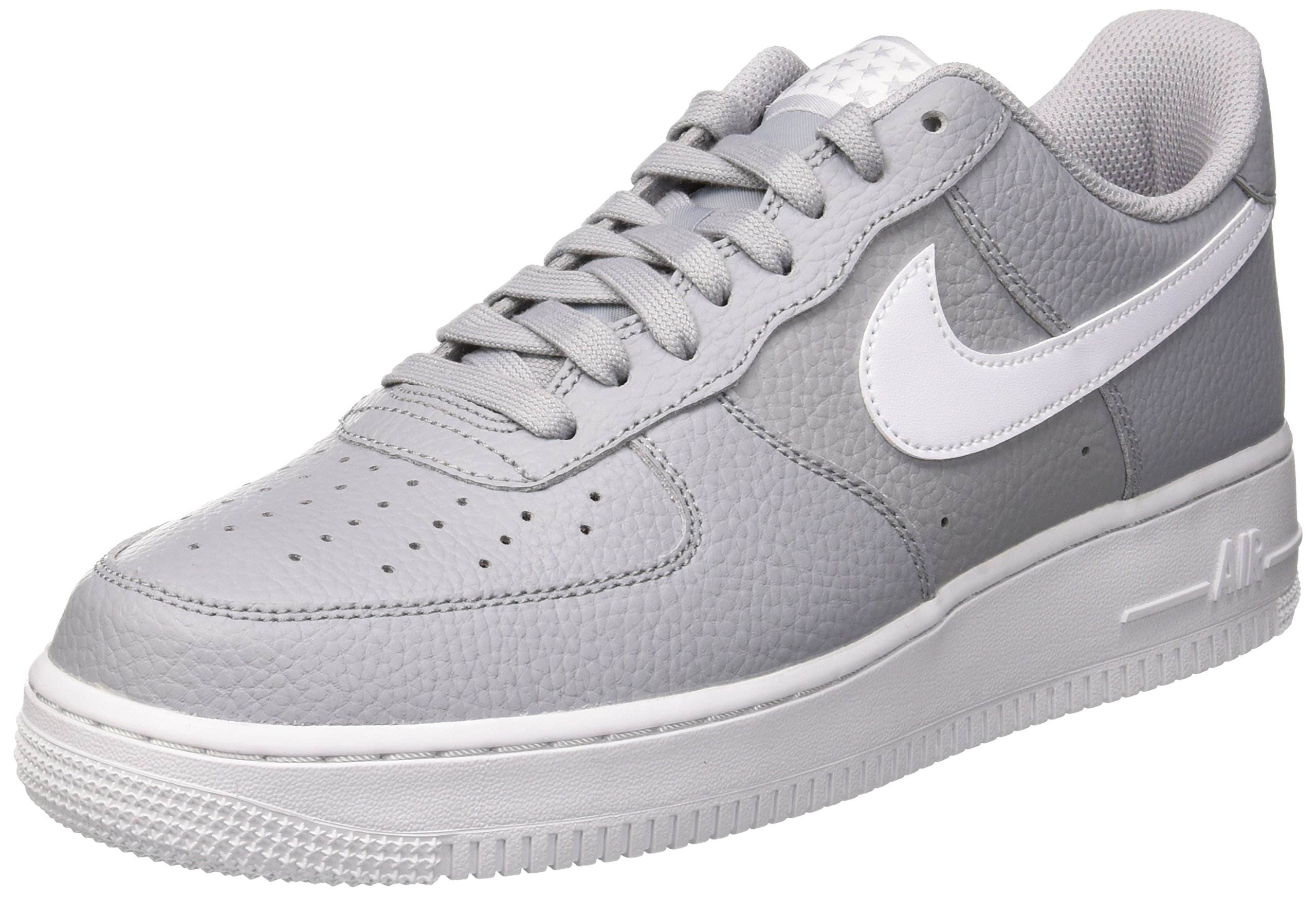 low priced 9ebfa bc317 Galleon - NIKE Men s Air Force 1  07 Gymnastics Shoes, Black (Wolf Grey  White 013), 10.5 UK 11 UK