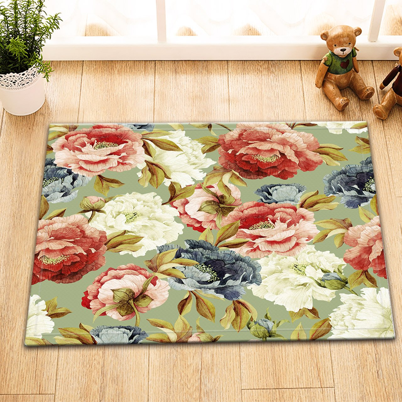 Amazon.com: LB Vintage Country Floral Pattern Printed Small ...
