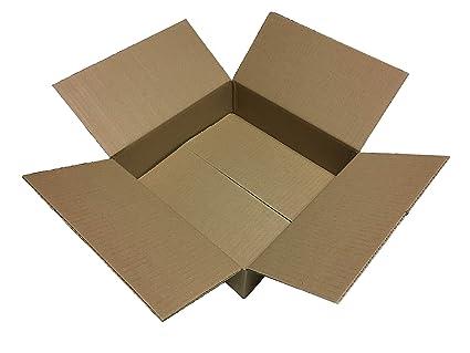 50 x Cajas de Cartón 400 x 400 x 100 * 40 x 40 x 10 Cartón ...
