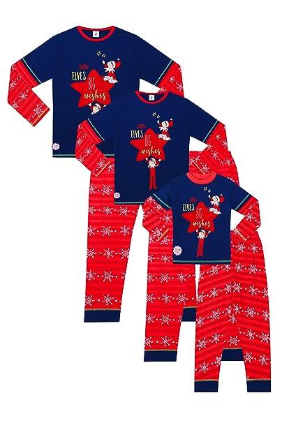 b7c37f6aa0 Official The Elf on The Shelf Family Long Pyjamas Christmas Matching Pjs   Amazon.co.uk  Clothing