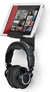 The Hutch - Screwless Tablet & Headphone Wall Mount Stand Hanger Holder, Designed for Tablets Like iPad, Samsung, Fire & More, No Screws, Drill Free, Strong 3M VHB Adheasive, by Brainwavz
