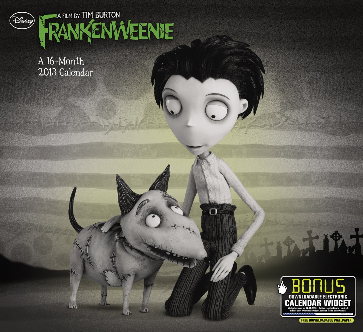 2013 Frankenweenie Wall Calendar Day Dream 9781423817833 Amazon Com Books
