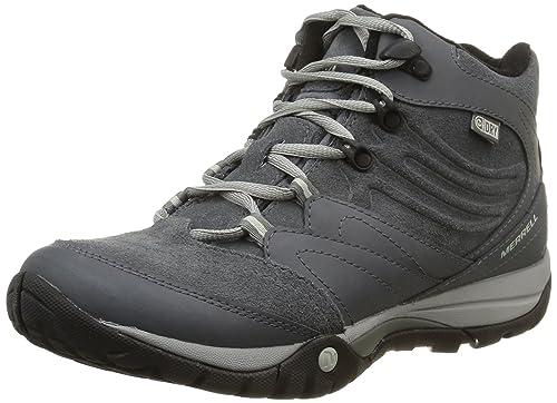 Merrell Azura Flurry Mid Waterproof, Women's Trekking and Hiking Boots,  J32654, Grey (