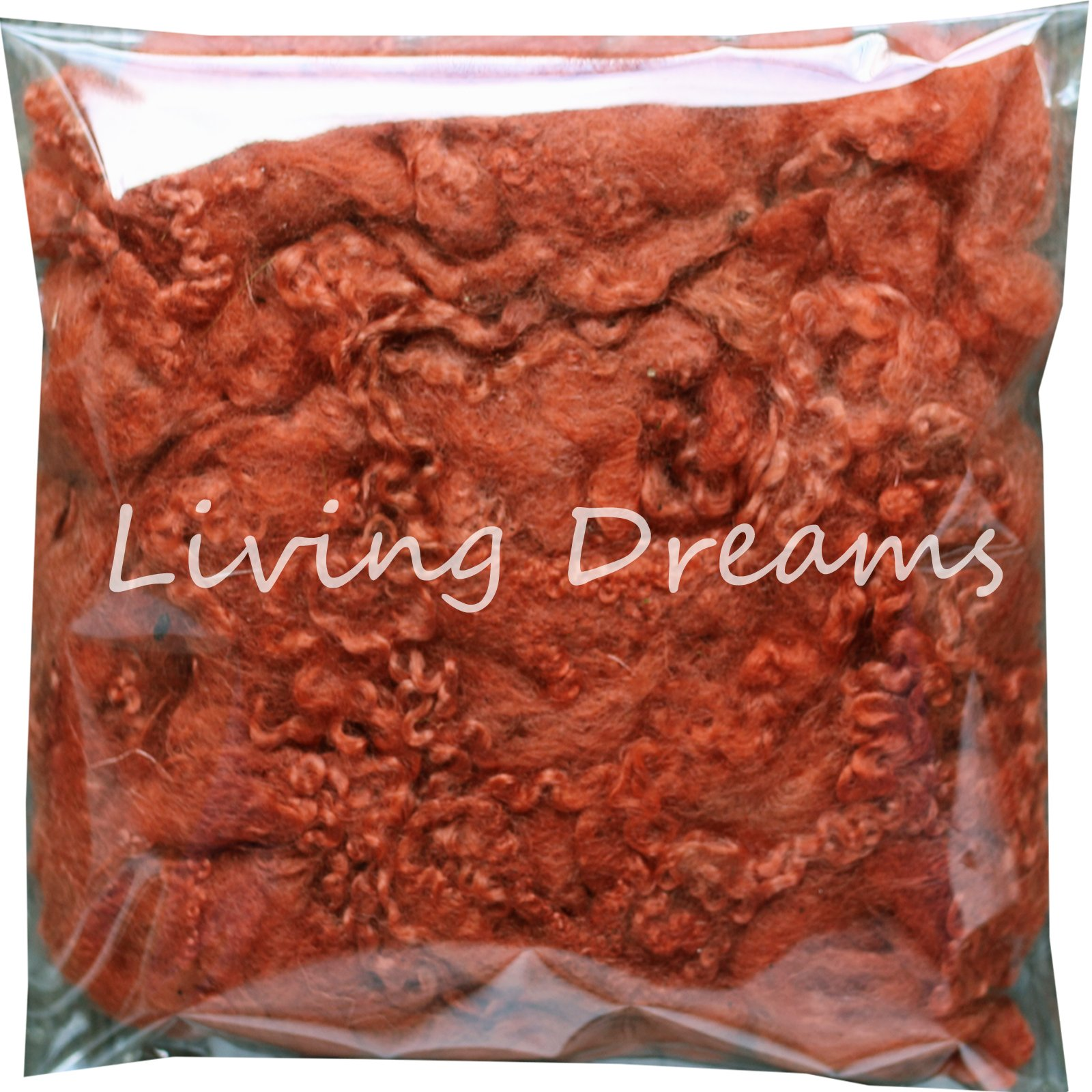 Felting Wool with Curly Locks for Needle Felting, Spinning, Doll Hair and Waldorf Crafts - Sienna