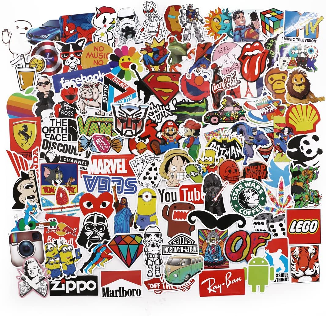 UTSAUTO Graffiti Stickers Decals Pack of 100 pcs Car Stickers Motorcycle Bicycle Skateboard Luggage Phone Pad Laptop Stickers And Bumper Patches Decals Waterproof Type 6