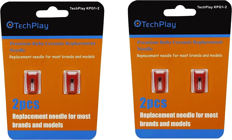 techplay Pack de 2, Roby cerámica aguja para tocadiscos: Amazon.es ...