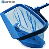 Stargoods Pool Skimmer - Heavy Duty Cleaner Tool & Net Bag Leaf Cleaning