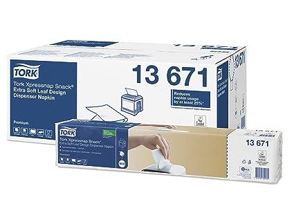Tork Xpressnap Snack 13671 Servilleta extrasuave Premium / 2 capas/Recambios para el sistema N10