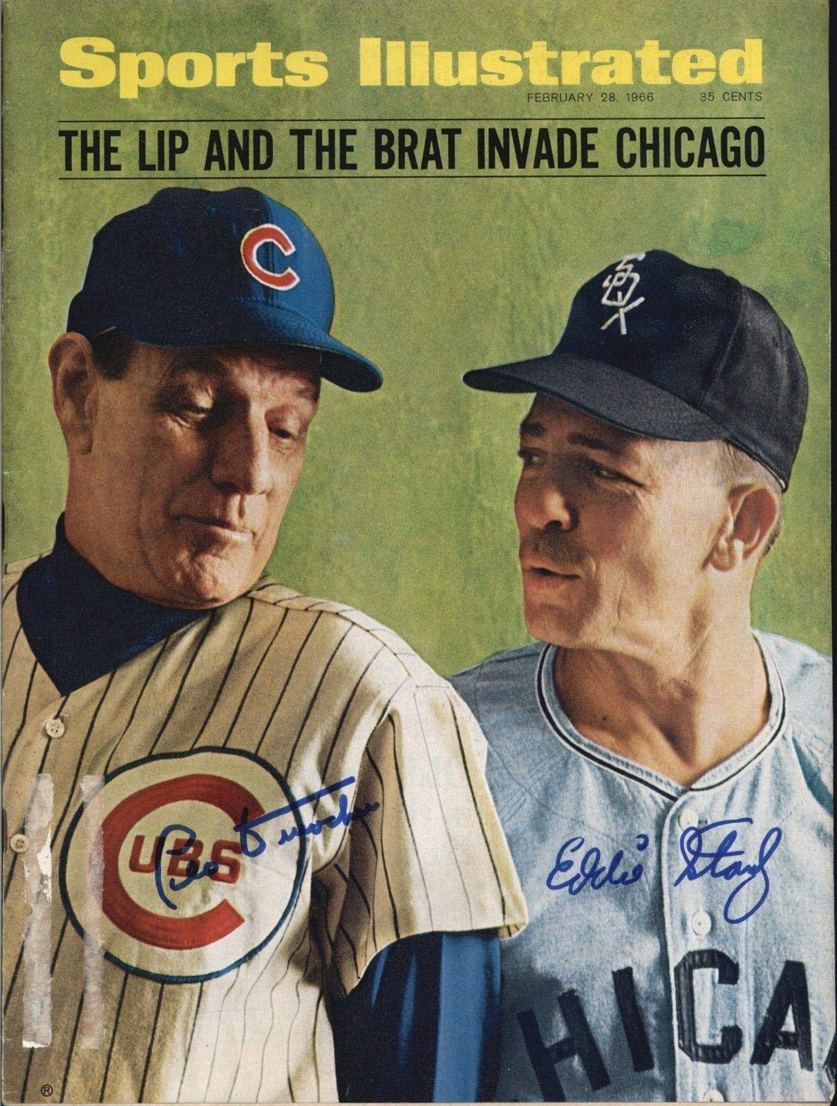 Leo Durocher Cubs/Eddie Stanky White Sox Signed 1966 SI Magazine COA JSA Certified Autographed MLB Magazines