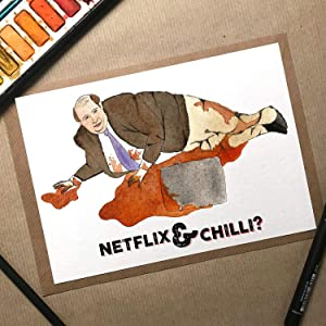 Netflix And Chilli, The Office Birthday Card, Office Anniversary Card, Kevin The Office, Anniversary Card Husband