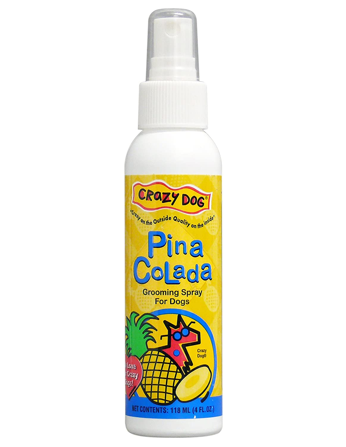 Crazy Dog Pina Colada Grooming Spray for Dogs, 4-Ounce by ...