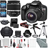 Canon EOS Rebel T6 DSLR Camera, EF-S 18-55mm f/3.5-5.6 IS II Lens, 32GB SDHC Bundle with Accessories (18-Items)