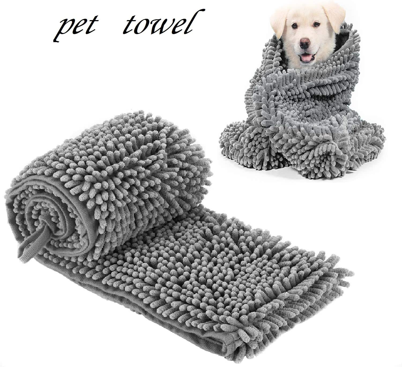 HI NINGER Dog Towel with Hand Pockets