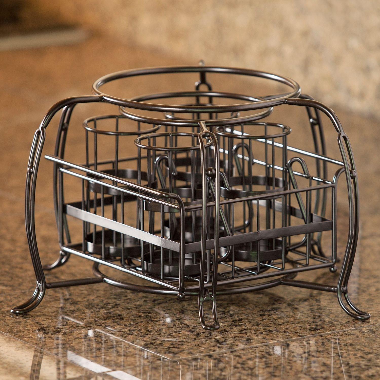 amazon com stackable buffet caddy set 7 pieces serving utensils