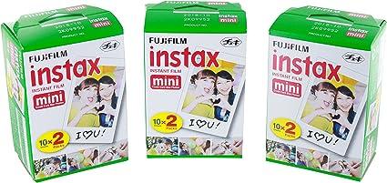 Instax - Fujifilm Mini película Bundle Pack (60 Disparos): Amazon.es: Electrónica
