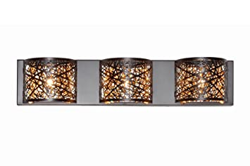 Amazon et2 e21316 10bz inca 3 light wall mount bath vanity et2 e21316 10bz inca 3 light wall mount bath vanity bronze finish aloadofball Images