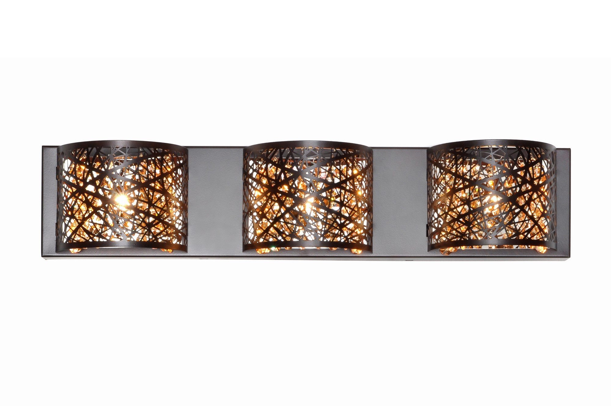 ET2 Lighting E21316-10BZ Bathroom Fixture with Metal Shades – Wall Mounted Bronze Finished Lighting Equipment for Bathroom Setting.  Restroom Lights