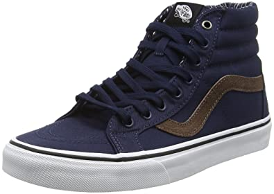 8e691973c9 Amazon.com  Vans Unisex (Cord   Plaid) Sk8-Hi Reissue Dress Blues ...