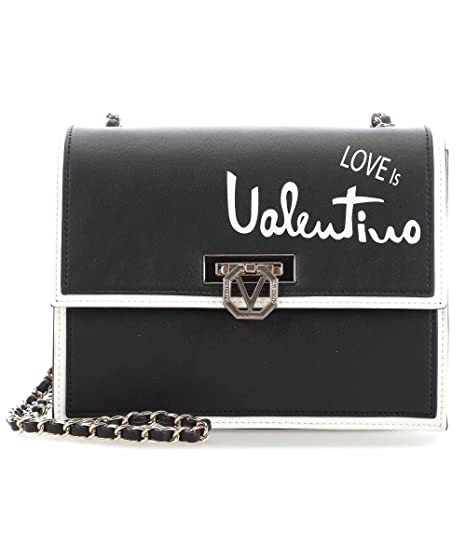 52baf212a5 Valentino by Mario Valentino Stewie Shoulder bag black/white: Amazon.co.uk:  Clothing