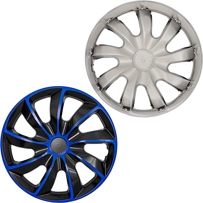 Universal Fit For Cars And Other Vehicles QUAD SILVER 16 Inch NRM Wheel Trims Set Of 4
