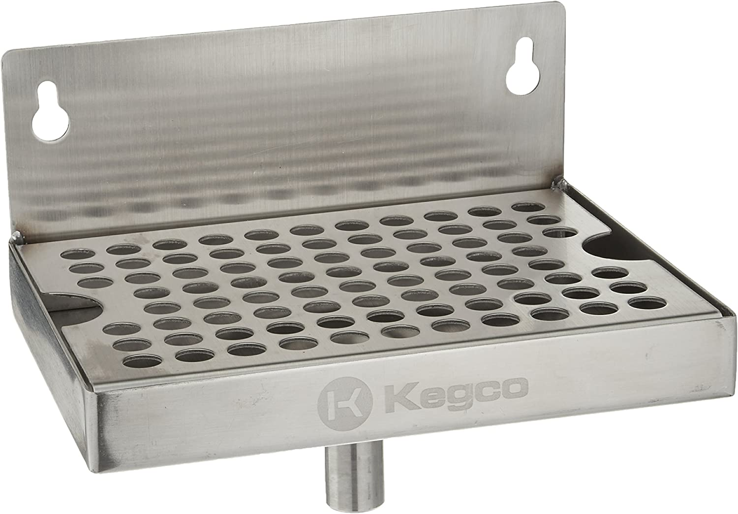 "Kegco KC DP-64-D Drip Tray, 6"", Stainless Steel"